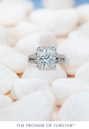 Unique Moissanite Ring
